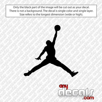 MJ Jumpman Basketball Car Decals