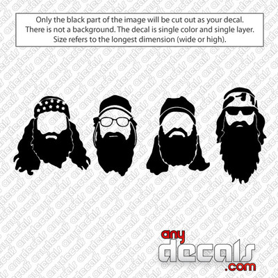 Duck Dynasty Heads Car Decal