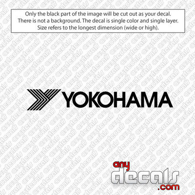 Yokohama Tires Car Decal
