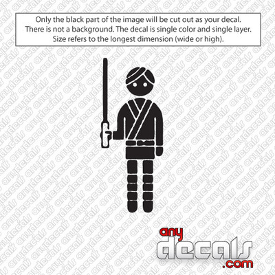 Star Wars Themed Car Stickers & Decals - Like Luke Skywalker
