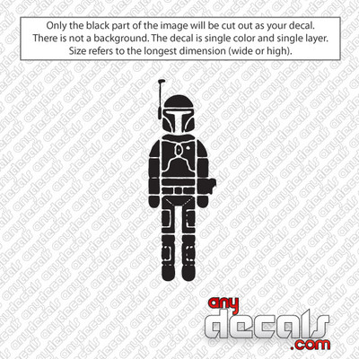 Star Wars Themed Car Stickers & Decals - Like Boba Fett