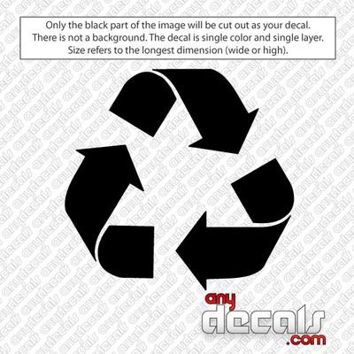 reduce reuse recycle symbol car decal