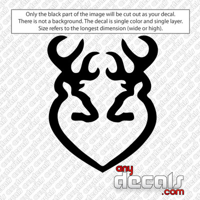 Browning Bucks Heart car decal sticker