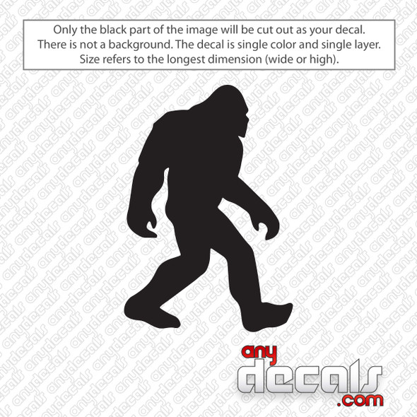 Sasquatch Bigfoot Decal Sticker