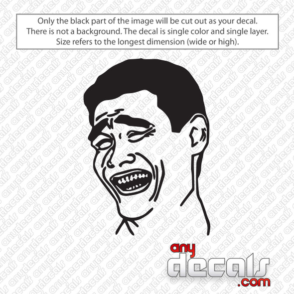 Yao Ming Meme Decal Sticker