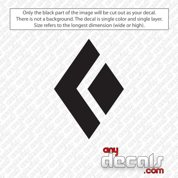 Black Diamond Emblem Decal Sticker