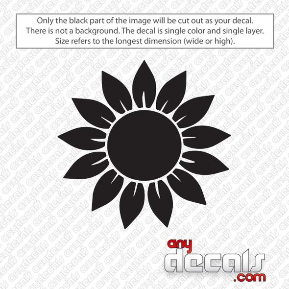 Sunflower Decal Sticker