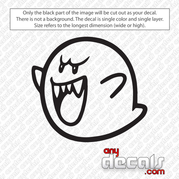 Super Mario Boo Decal Sticker