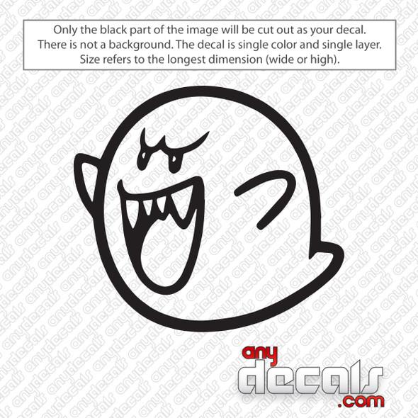 Super Mario Boo Decal Sticker