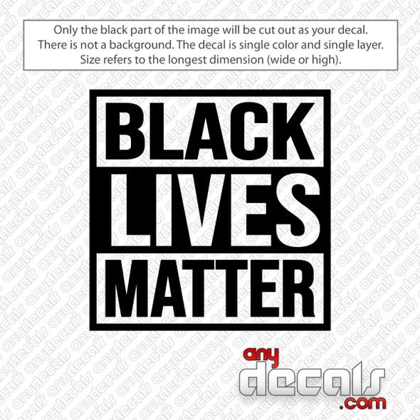 Black Lives Matter BLM Decal Sticker