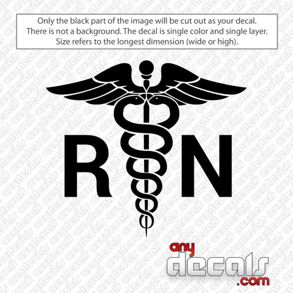 RN Nurse Medical Symbol Decal Sticker