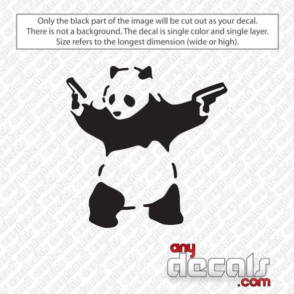 Panda With Guns Car Decal Sticker