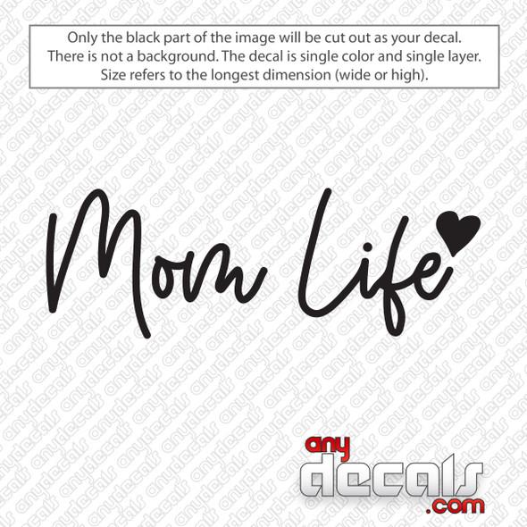 Mom Life Script Decal Sticker