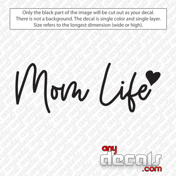 Mom Life Script Decal Sticker