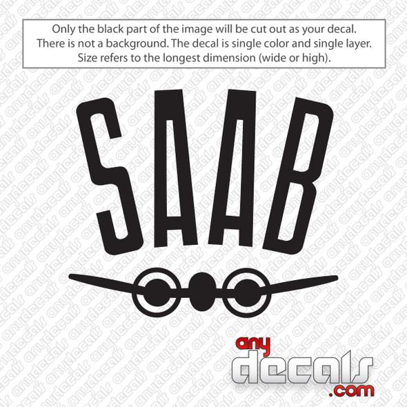 Saab Air Logo Decal Sticker