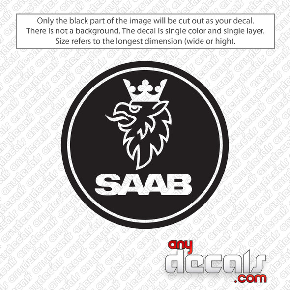 Saab Emblem Decal Sticker