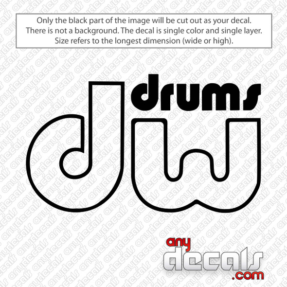 DW Performance Logo Bass Drum Decal Sticker