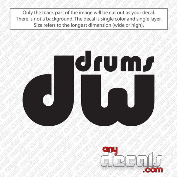 DW Performance Bass Drums Decal Sticker
