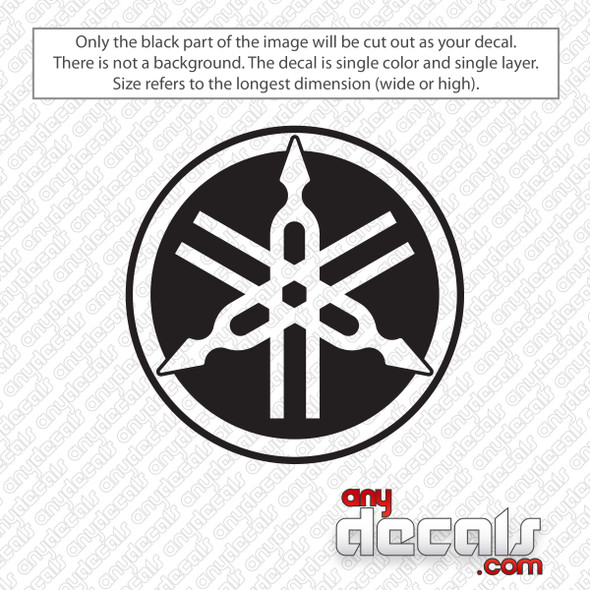 Yamaha Round Logo Decal Sticker