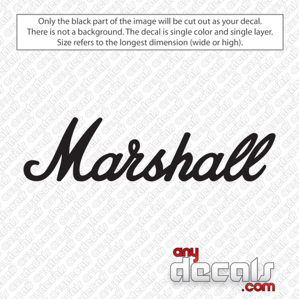 Marshall Logo Decal Sticker