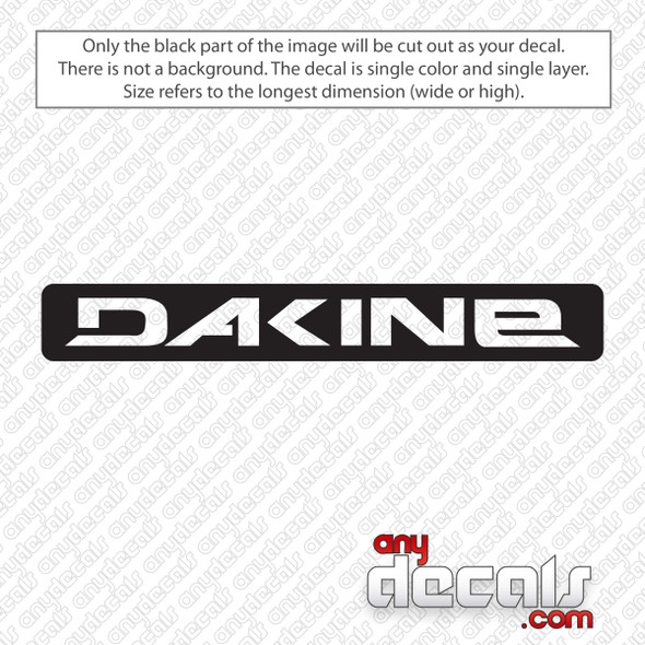 Dakine Rectangle Logo Decal Sticker