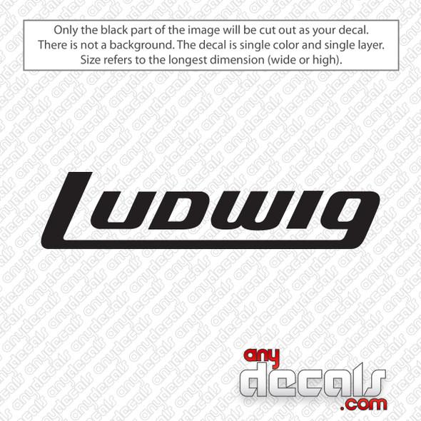 Ludwig Logo Bass Drum Decal Sticker