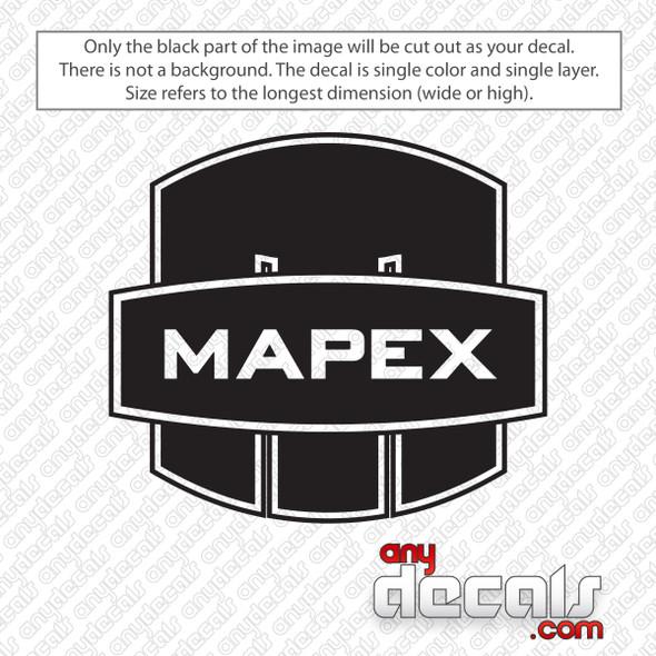 Mapex Drums Logo Bass Drum Decal Sticker