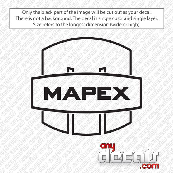 Mapex Drums Logo Outline Bass Drum Decal Sticker