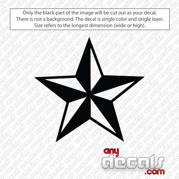 Nautical Star Decal Sticker