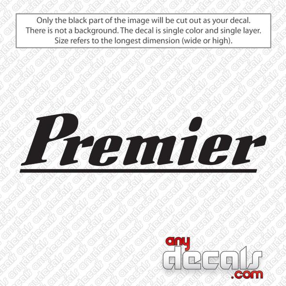Premier Drums Vintage Logo Bass Drum Decal Sticker