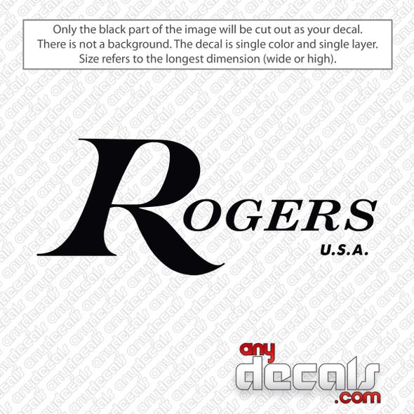 Rogers Logo Bass Drum Decal Sticker