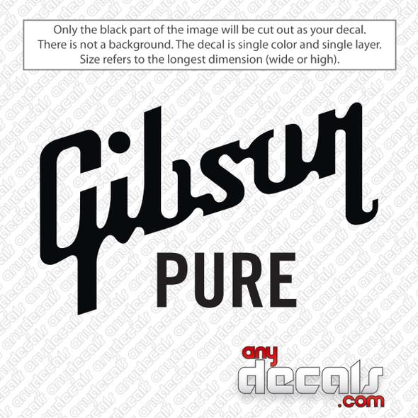 Gibson Pure Logo Decal Sticker