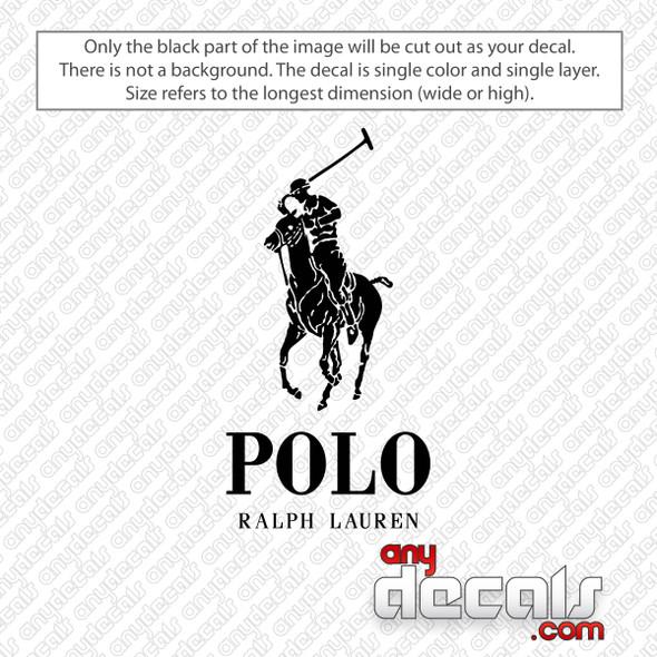 Polo Ralph Lauren Logo Decal Sticker