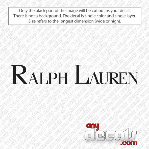 Ralph Lauren Decal Sticker