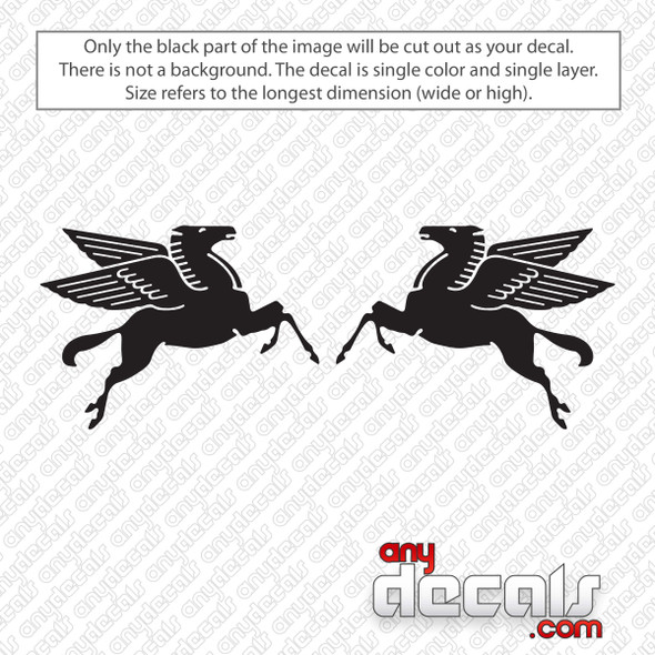 Mobil Gas Pegasus Set Decal Sticker