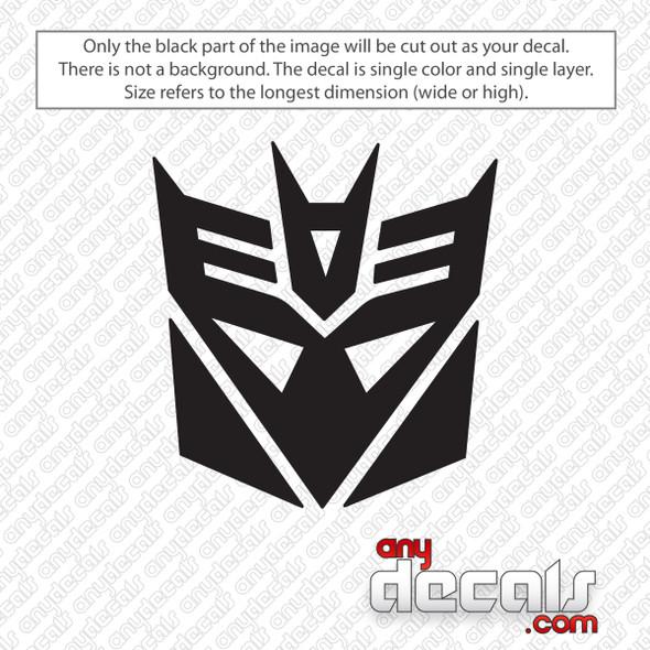 Transformers Decepticon Decal Sticker