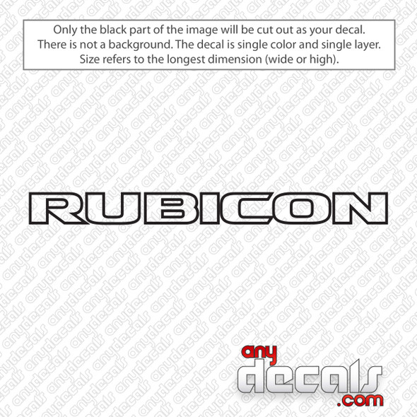 Jeep Rubicon Outline Logo Decal Sticker