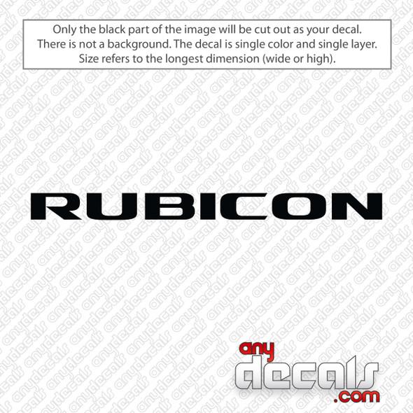 Jeep Rubicon Logo Decal Sticker