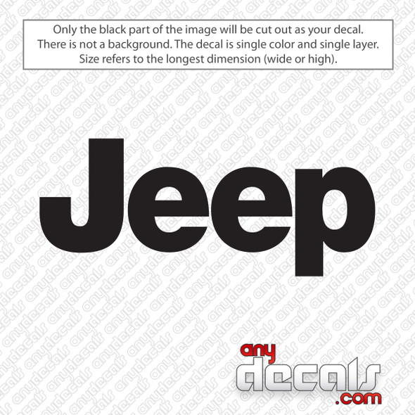 Jeep Logo Decal Sticker