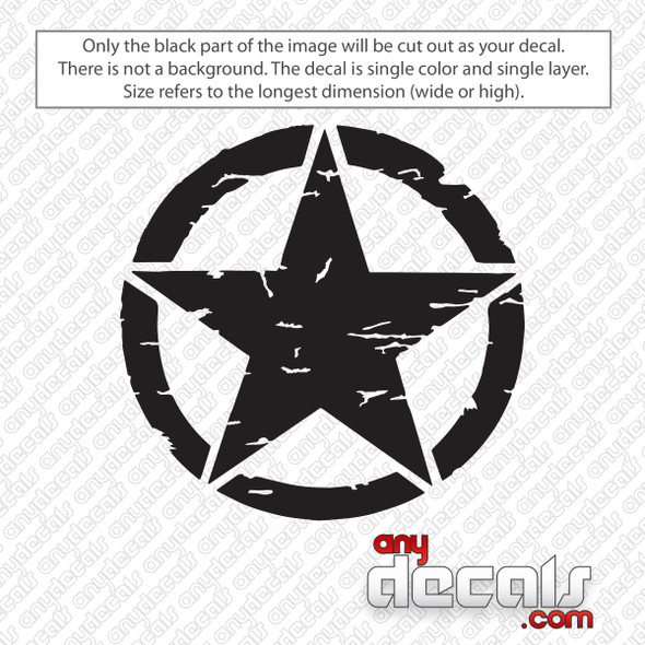 Jeep Weathered Star Decal Sticker