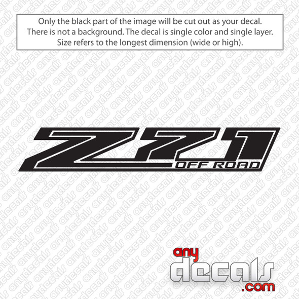 Chevrolet Z71 Off Road Bedside Decal Sticker