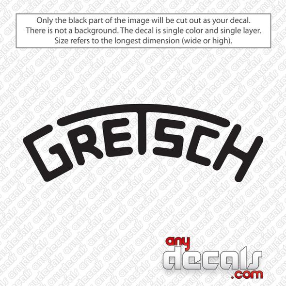 Gretsch Drums Bass Decal Vinyl Sticker