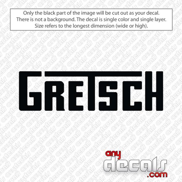 Gretsch Guitars Logo Decal Sticker