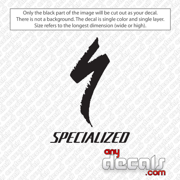 Specialized Bicycle Components Logo Decal Sticker