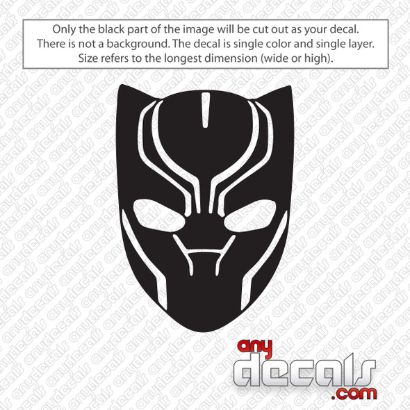 Black Panther Face Decal Sticker