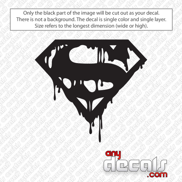 Death Of Superman Decal Sticker