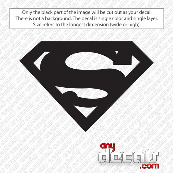 Superman Emblem Decal Sticker