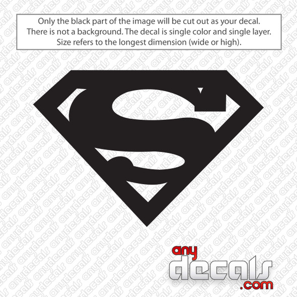 Superman Emblem Decal Sticker