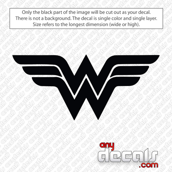 Wonder Woman Logo Decal Sticker