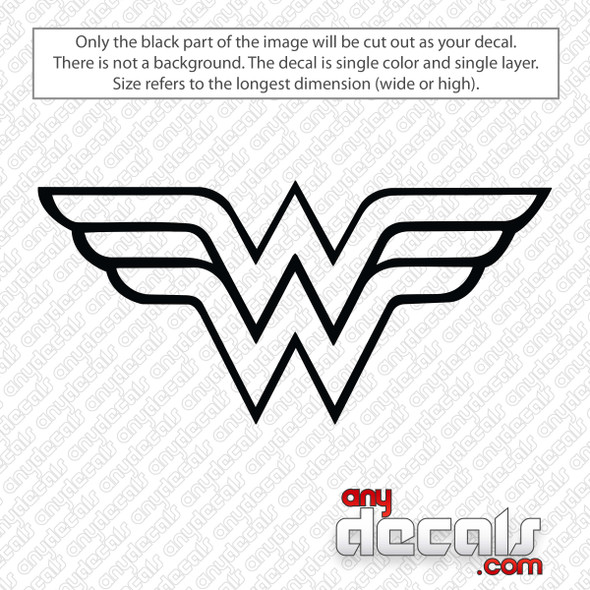 Wonder Woman Logo Outline Decal Sticker